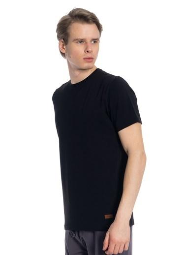 Slazenger Coby Erkek Kısa Kol Tişört Siyah